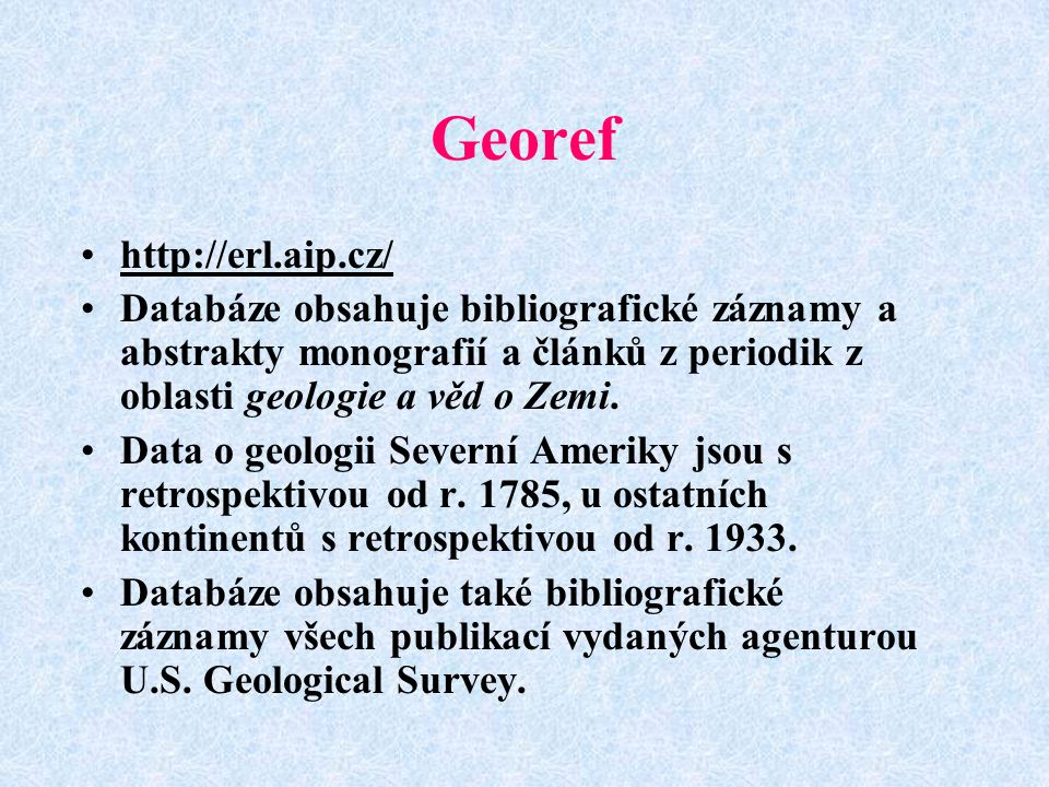 Georef http://erl.aip.cz/