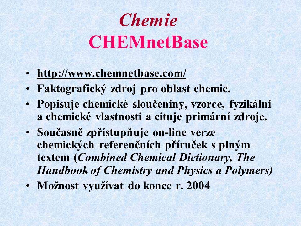 Chemie CHEMnetBase http://www.chemnetbase.com/