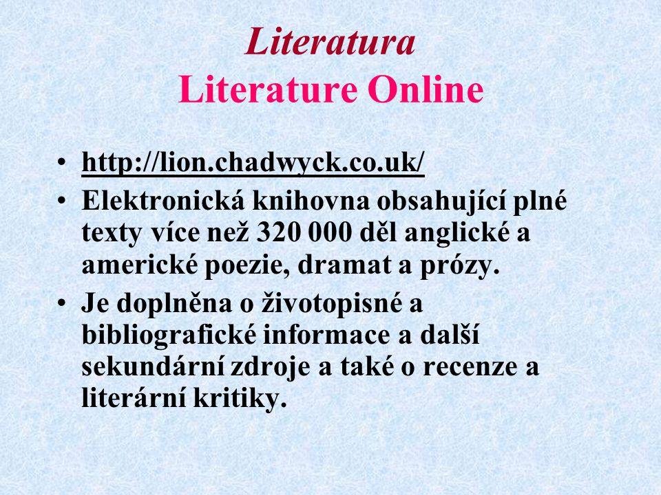 Literatura Literature Online