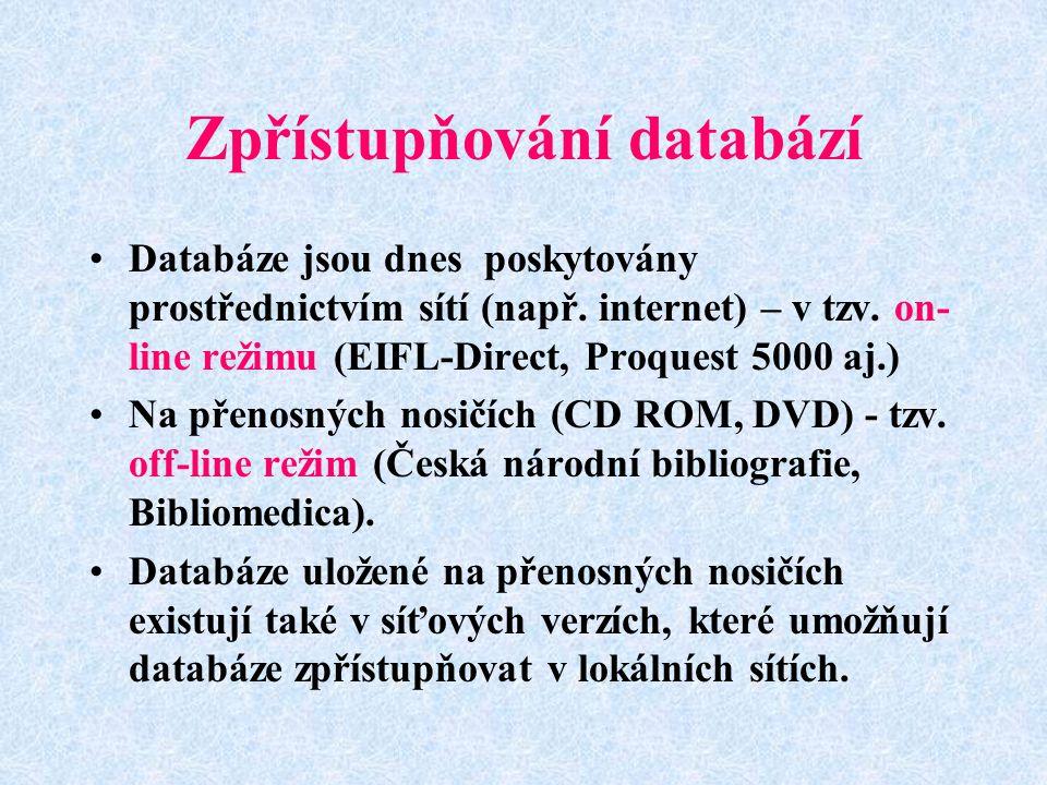 Zpřístupňování databází