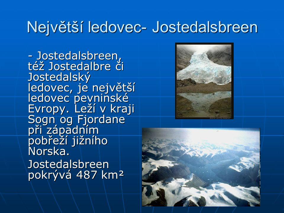 Největší ledovec- Jostedalsbreen