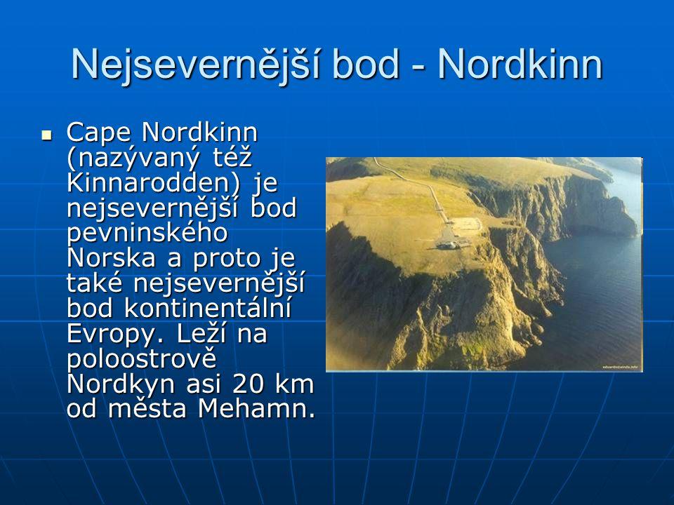 Nejsevernější bod - Nordkinn