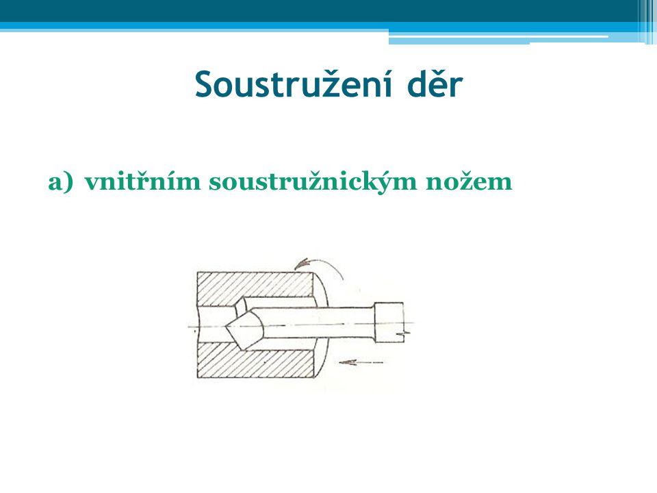 Soustružení děr vnitřním soustružnickým nožem