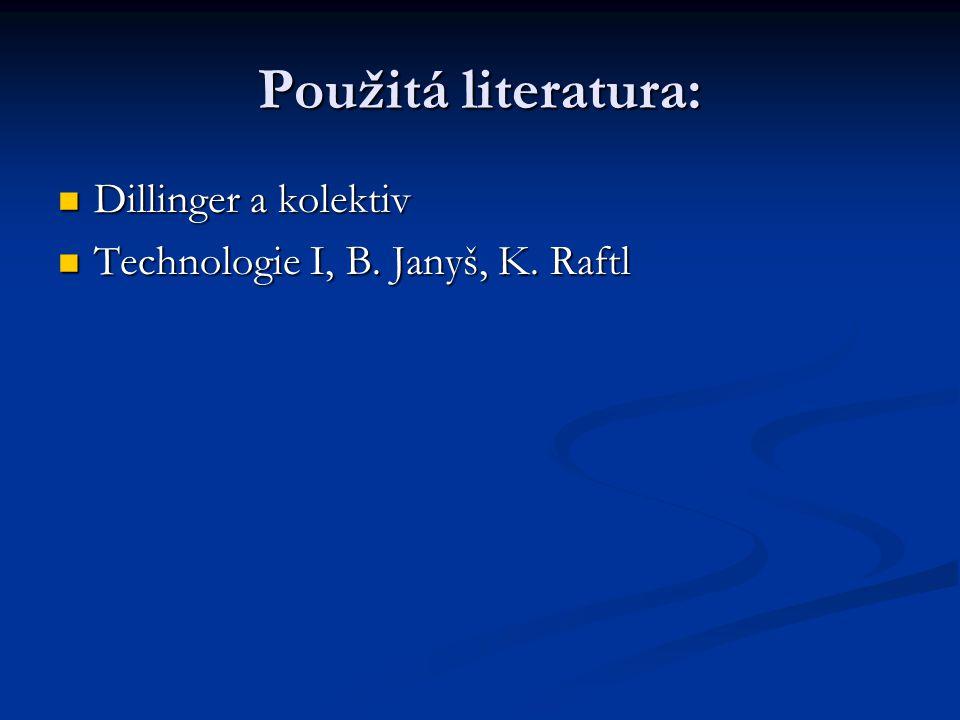 Použitá literatura: Dillinger a kolektiv