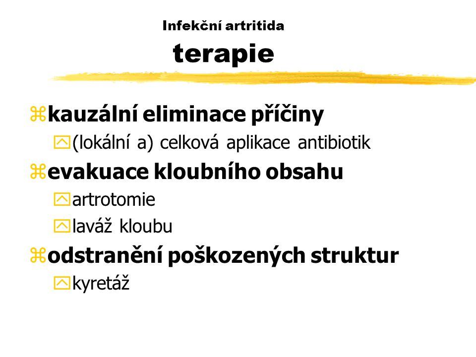 Infekční artritida terapie