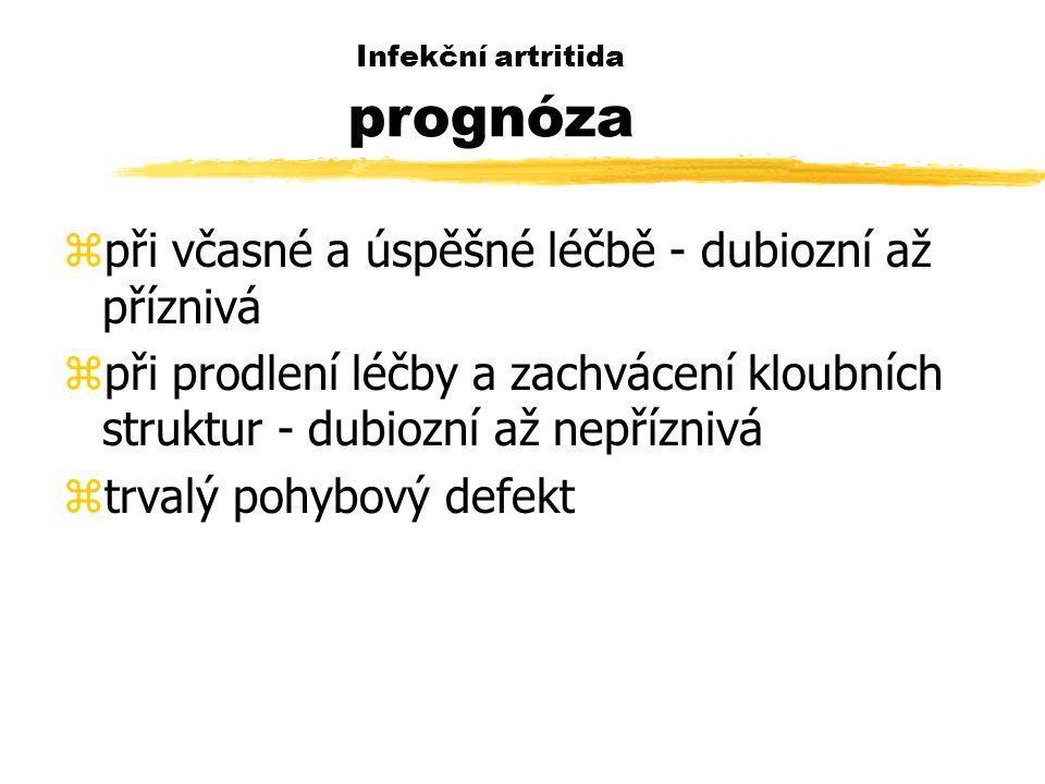 Infekční artritida prognóza
