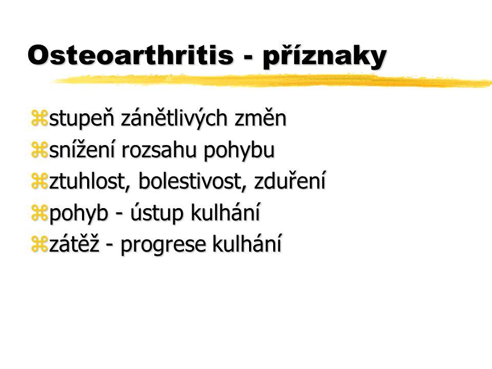 Osteoarthritis - příznaky