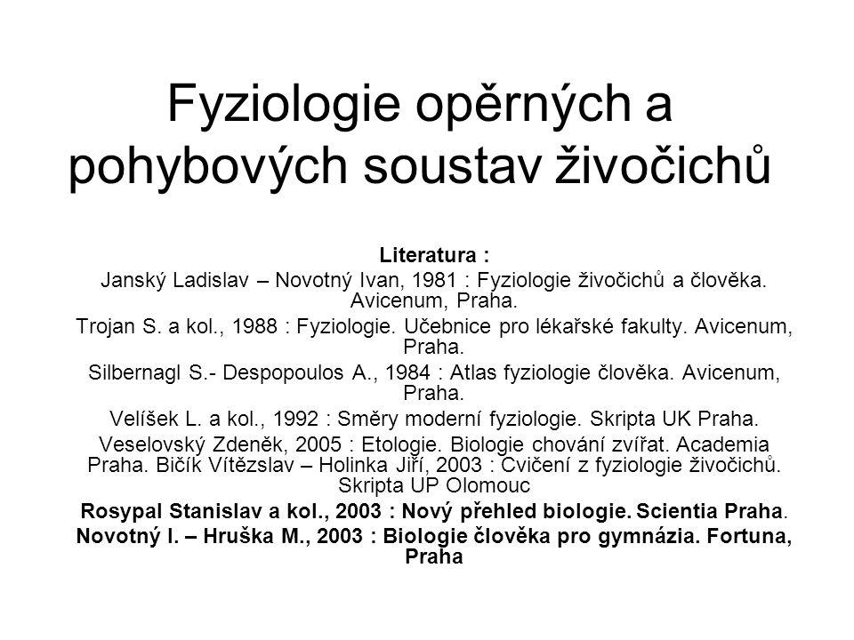 Fyziologie opěrných a pohybových soustav živočichů