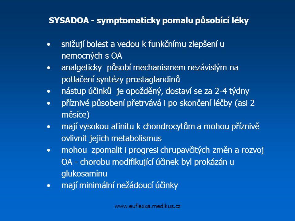 SYSADOA - symptomaticky pomalu působící léky