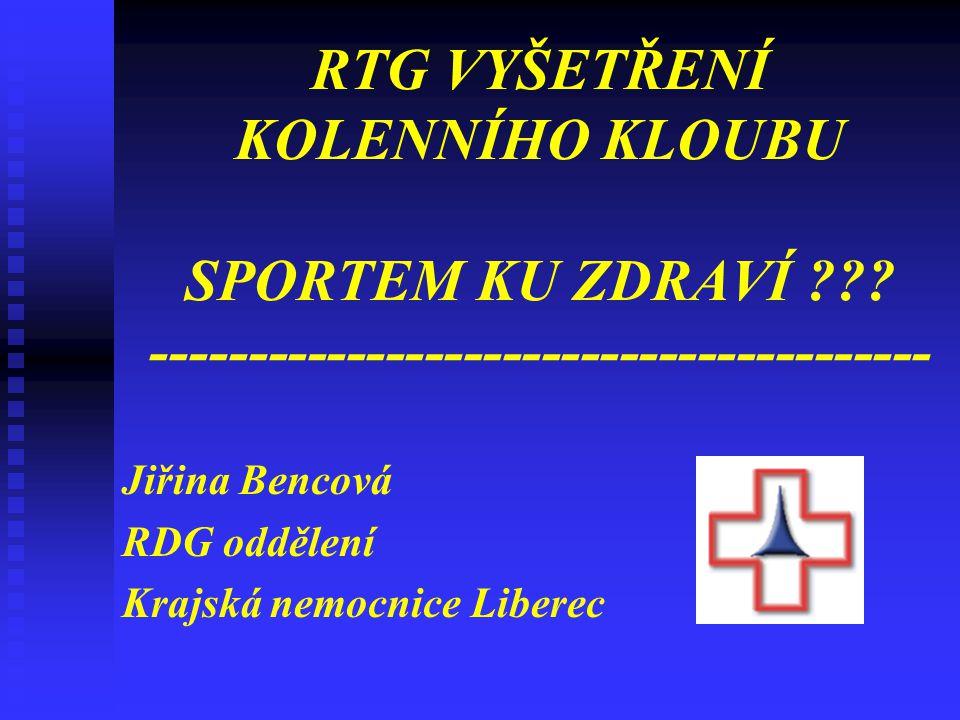 Jiřina Bencová RDG oddělení Krajská nemocnice Liberec
