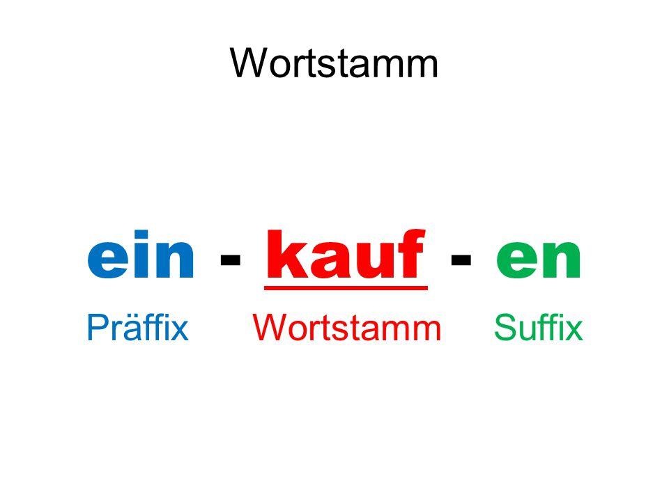 Präffix Wortstamm Suffix
