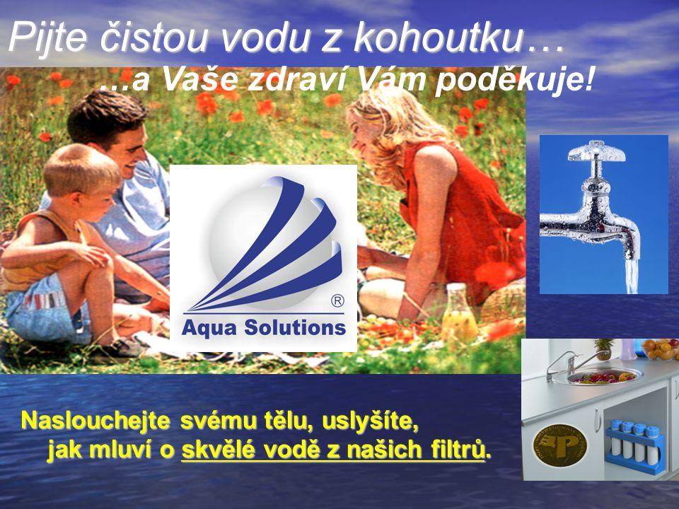 Pijte čistou vodu z kohoutku…