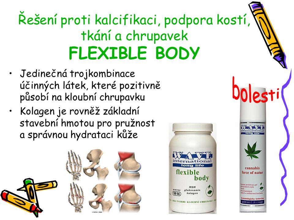 Řešení proti kalcifikaci, podpora kostí, tkání a chrupavek FLEXIBLE BODY