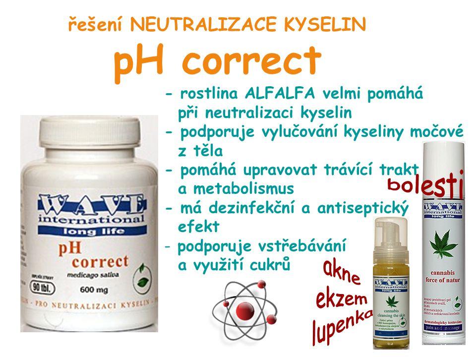 řešení NEUTRALIZACE KYSELIN pH correct