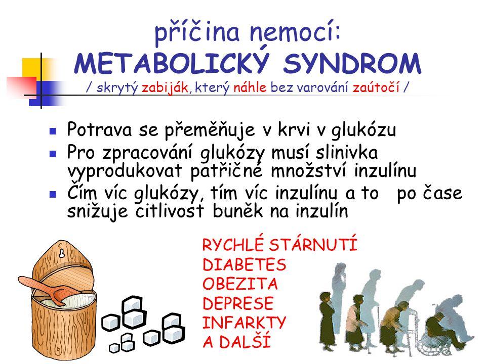 příčina nemocí: METABOLICKÝ SYNDROM / skrytý zabiják, který náhle bez varování zaútočí /
