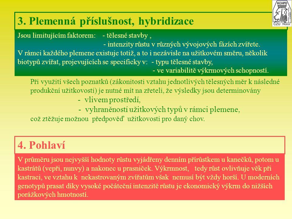 3. Plemenná příslušnost, hybridizace