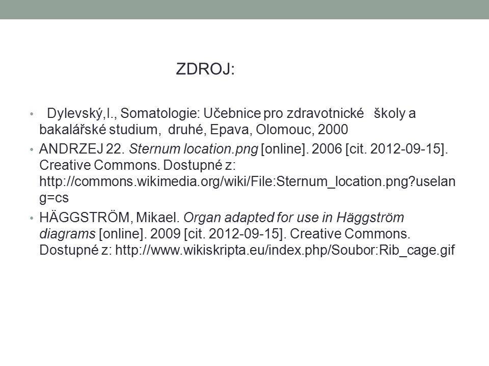 ZDROJ: Dylevský,I., Somatologie: Učebnice pro zdravotnické školy a bakalářské studium, druhé, Epava, Olomouc, 2000.