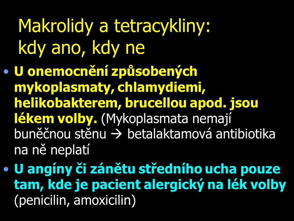 Makrolidy a tetracykliny: kdy ano, kdy ne