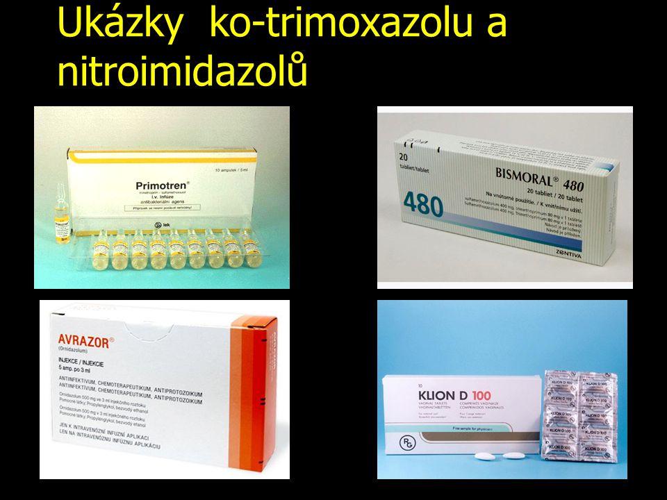 Ukázky ko-trimoxazolu a nitroimidazolů