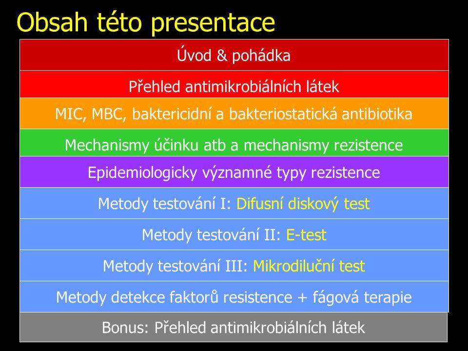 Obsah této presentace Úvod & pohádka Přehled antimikrobiálních látek