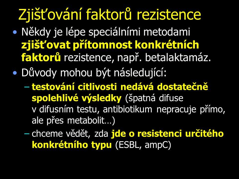 Zjišťování faktorů rezistence