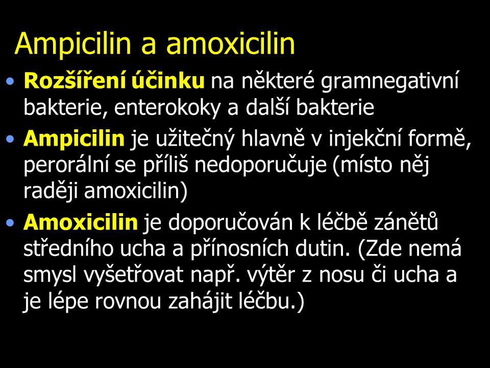 Ampicilin a amoxicilin