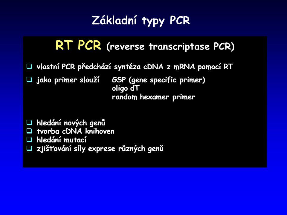 RT PCR (reverse transcriptase PCR)