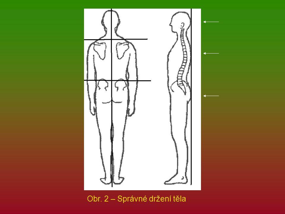 Obr. 2 – Správné držení těla