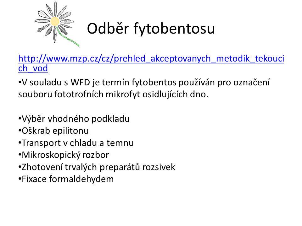 Odběr fytobentosu http://www.mzp.cz/cz/prehled_akceptovanych_metodik_tekoucich_vod.