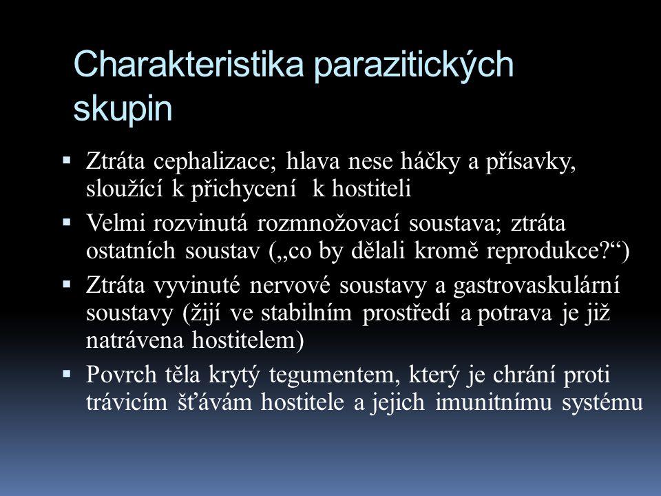 Charakteristika parazitických skupin