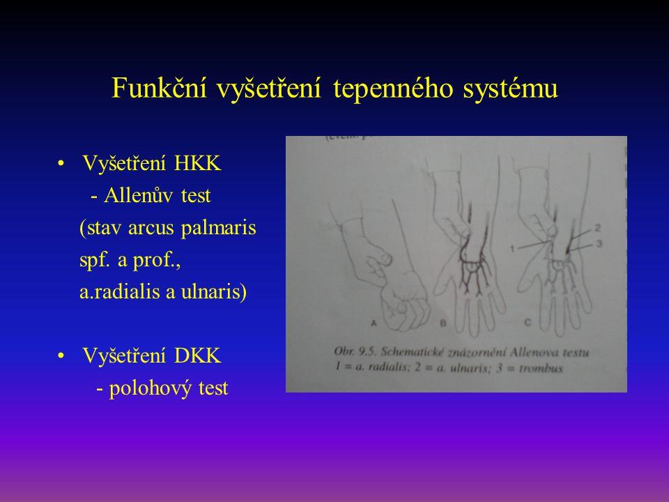 Funkční vyšetření tepenného systému