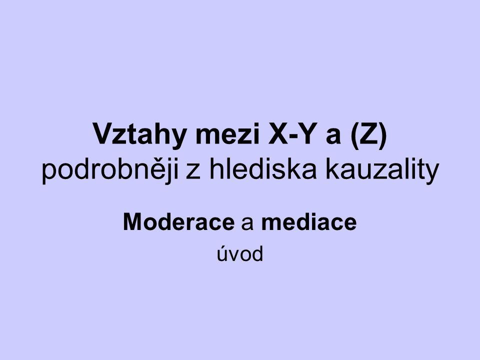Vztahy mezi X-Y a (Z) podrobněji z hlediska kauzality