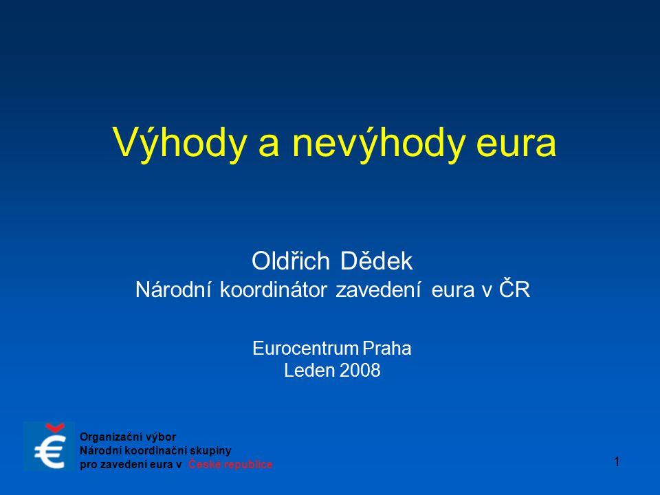 Národní koordinátor zavedení eura v ČR