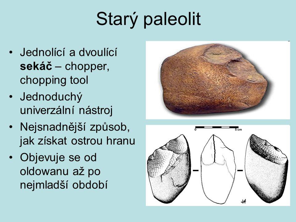 Starý paleolit Jednolící a dvoulící sekáč – chopper, chopping tool