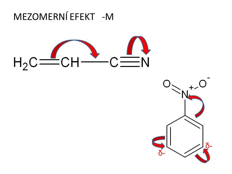 MEZOMERNÍ EFEKT -M δ- δ-