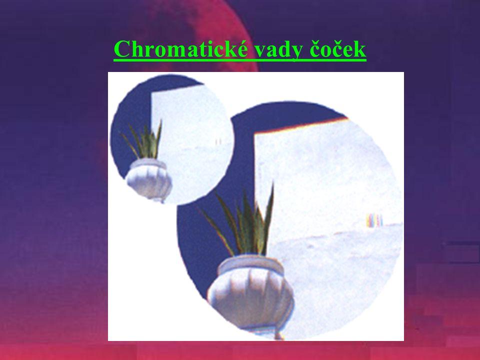 Chromatické vady čoček