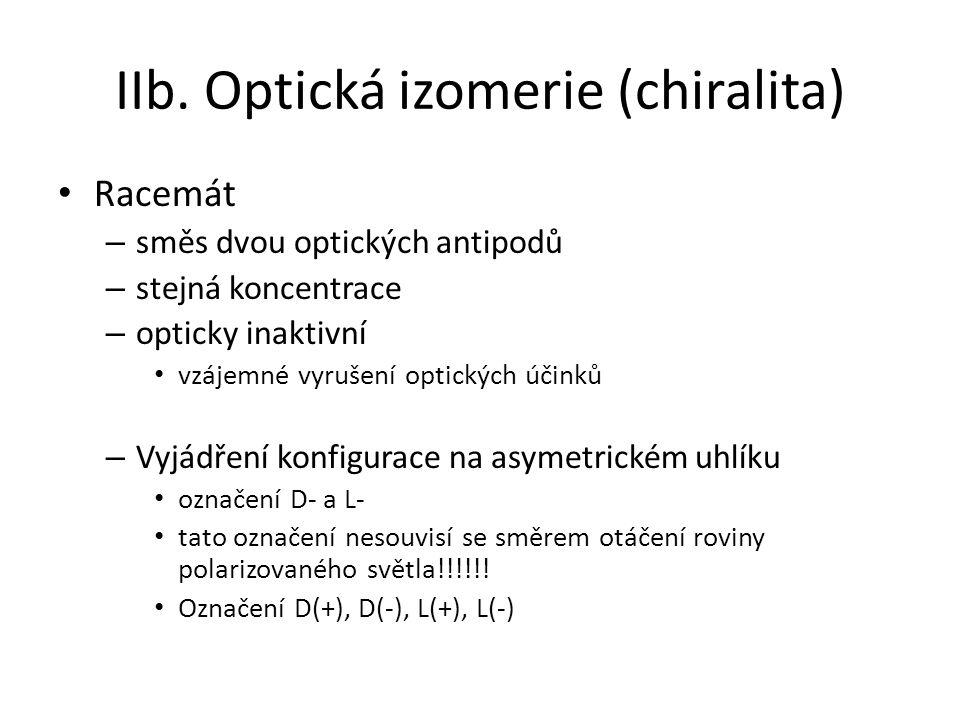 IIb. Optická izomerie (chiralita)