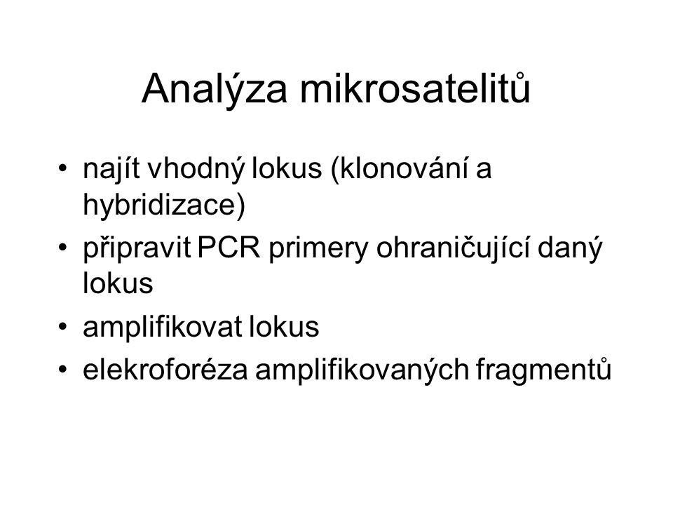 Analýza mikrosatelitů