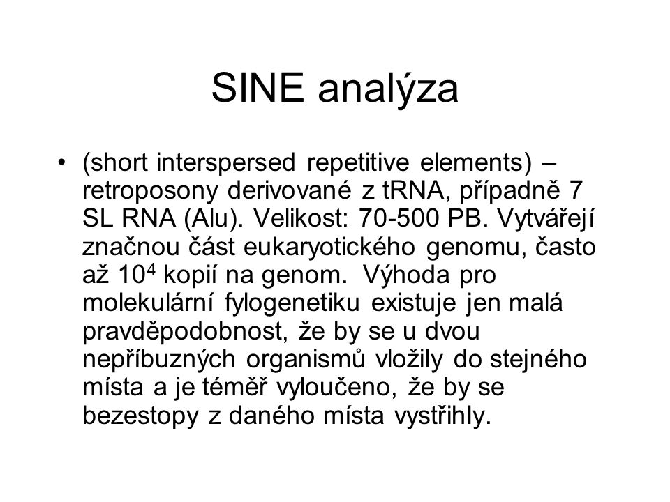 SINE analýza