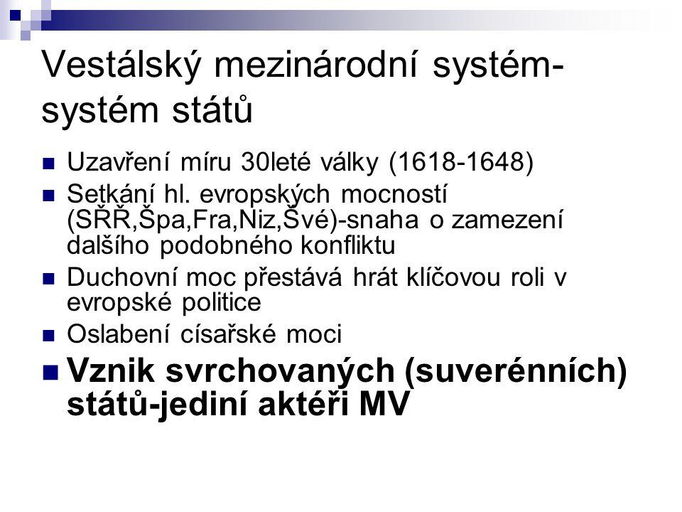 Vestálský mezinárodní systém-systém států