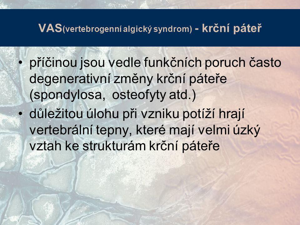 VAS(vertebrogenní algický syndrom) - krční páteř