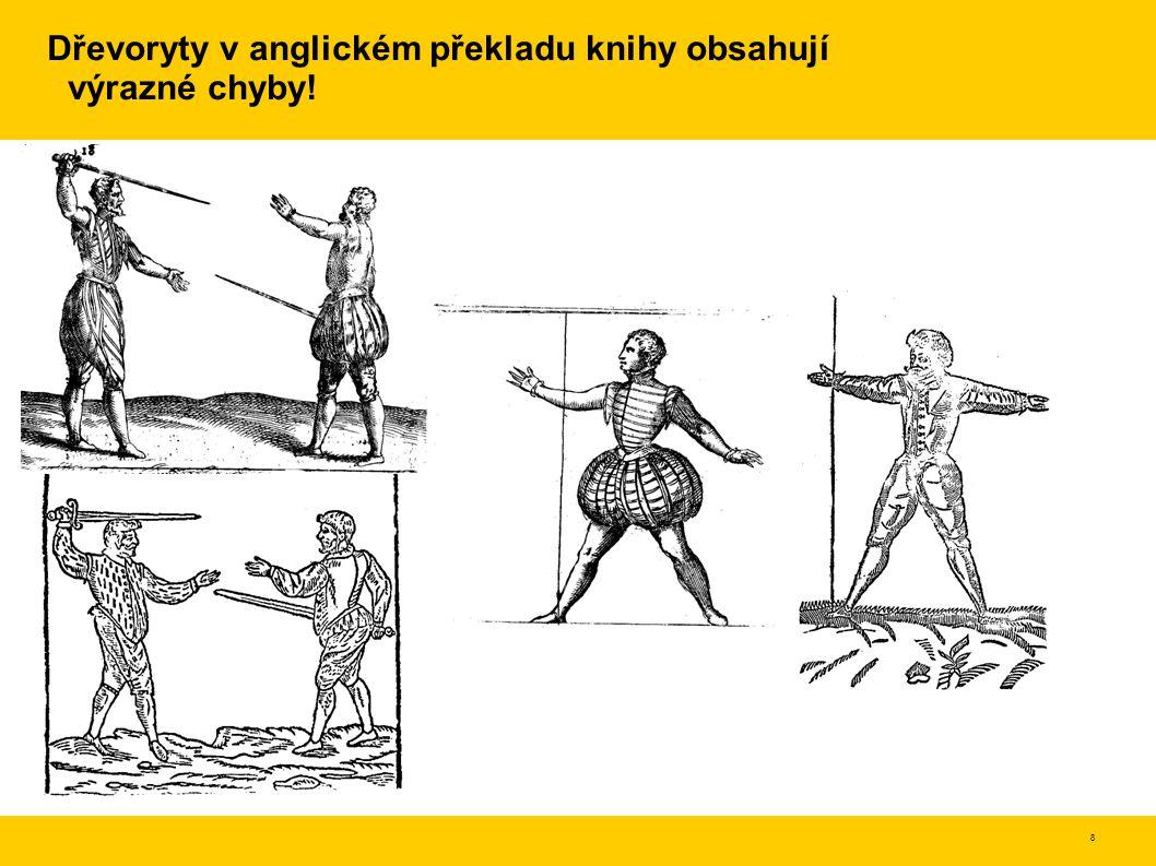 Dřevoryty v anglickém překladu knihy obsahují výrazné chyby!