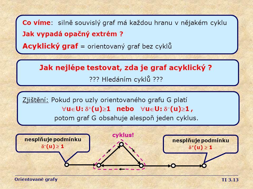 Jak nejlépe testovat, zda je graf acyklický