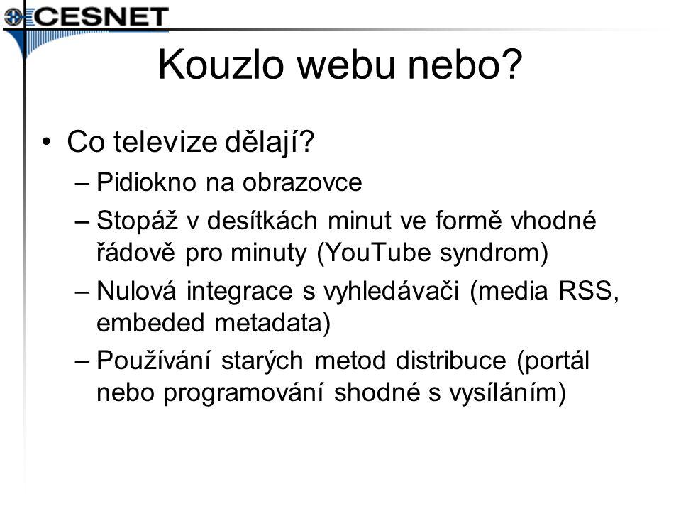 Kouzlo webu nebo Co televize dělají Pidiokno na obrazovce