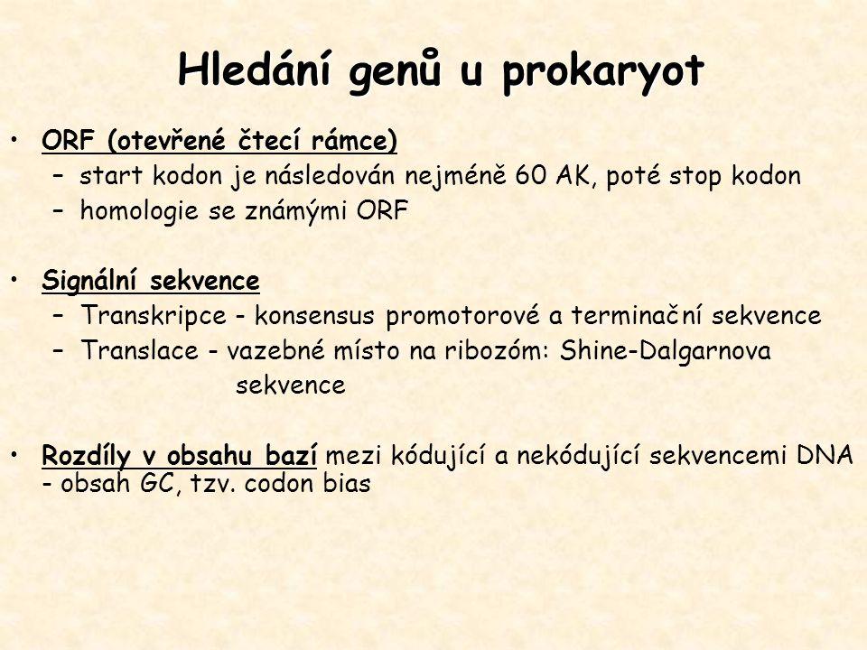 Hledání genů u prokaryot
