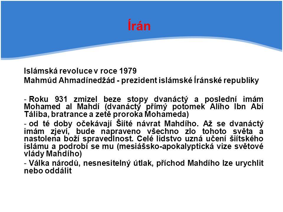Írán Islámská revoluce v roce 1979