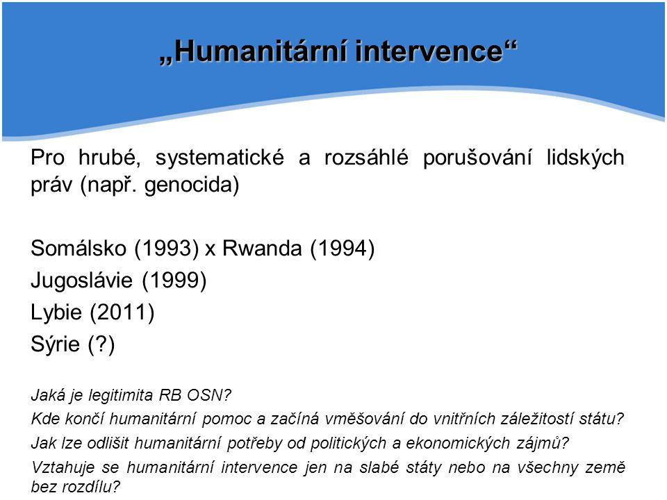 """""""Humanitární intervence"""