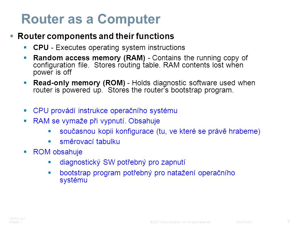Router as a Computer Router components and their functions