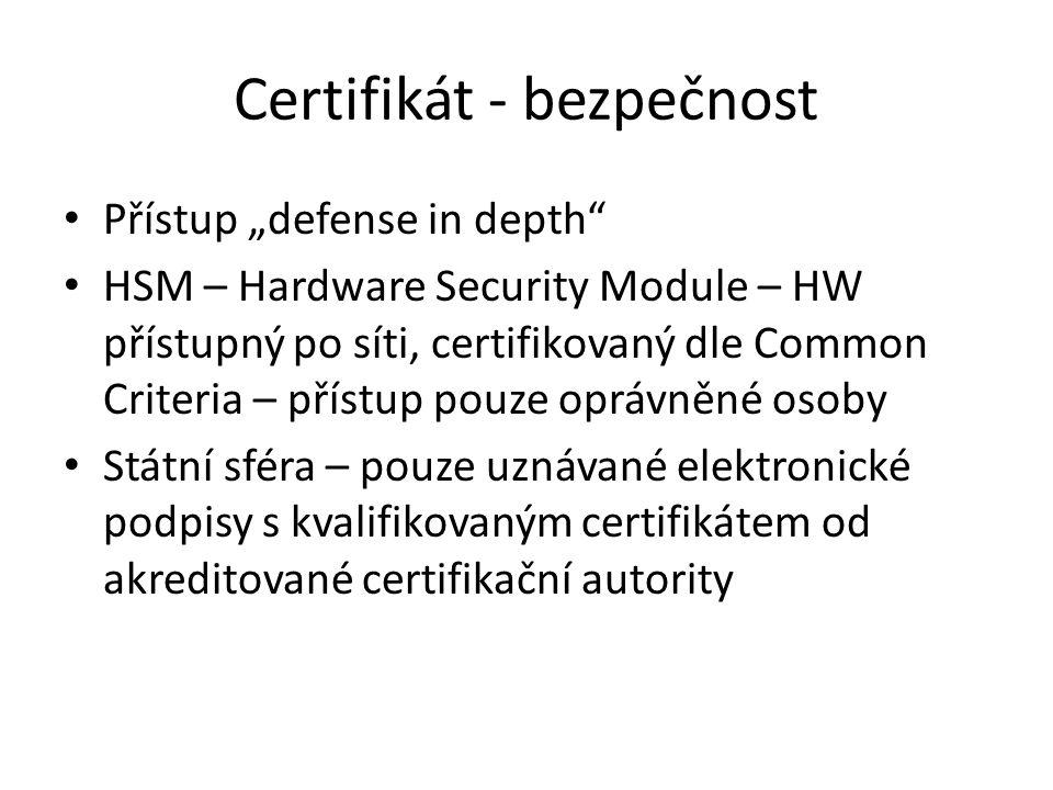 Certifikát - bezpečnost