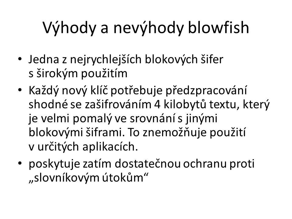 Výhody a nevýhody blowfish
